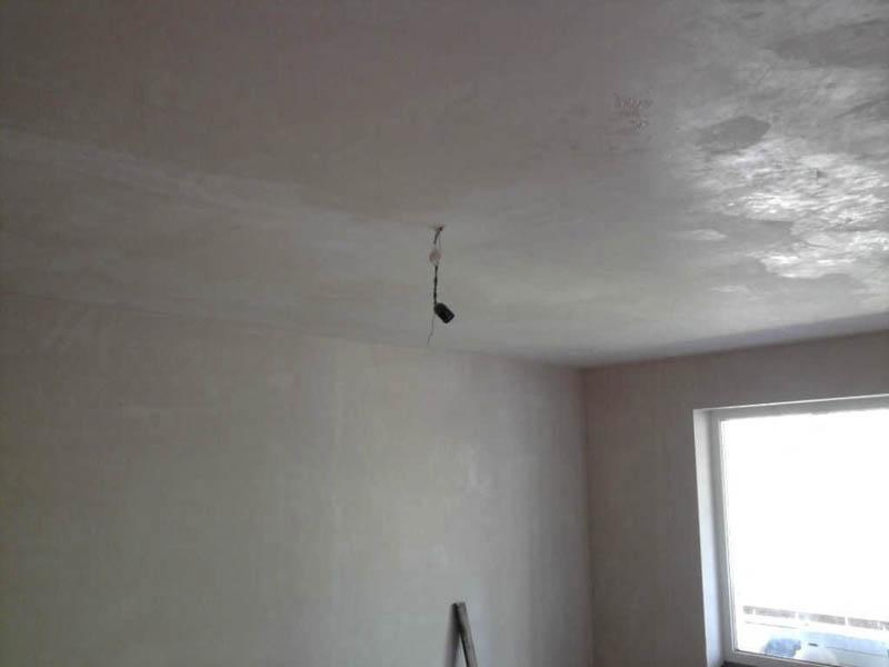стены и потолок до начала монтажа