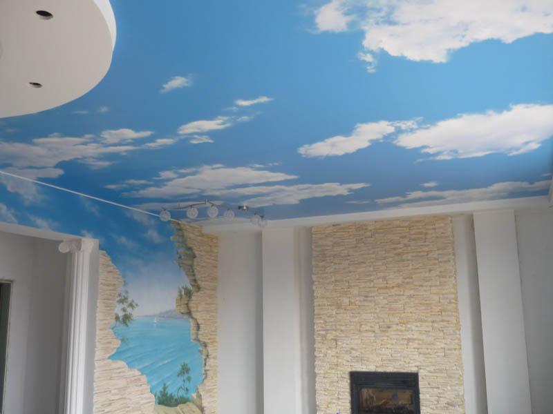 Дизайн комнаты под природу - небо и море