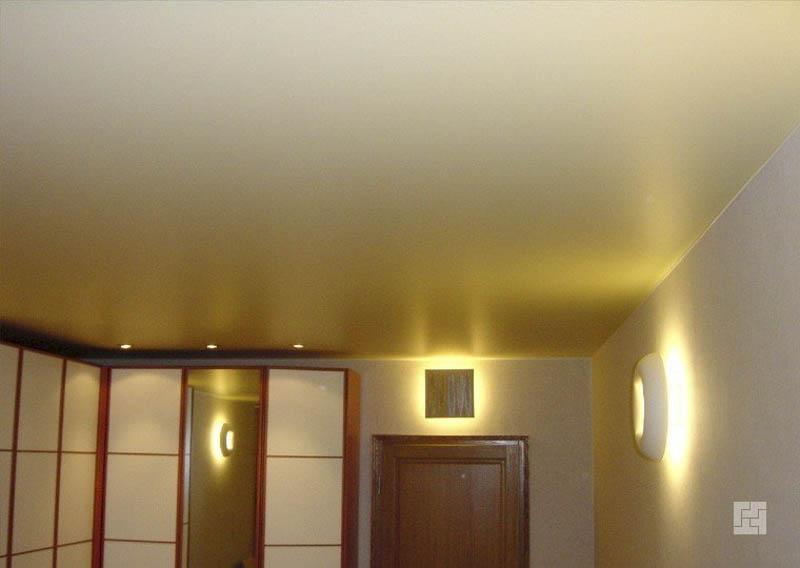 Натяжной потолок без освещения