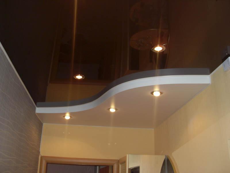 Эффект инь-янь в стиле модерн на потолке