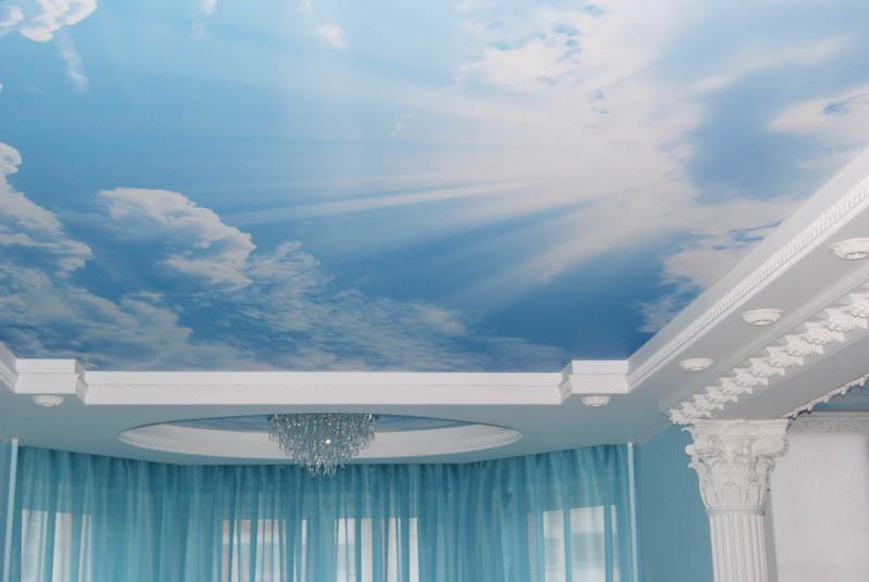 """Потолок с эффектом """"Облака фантазия"""""""