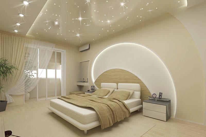 """""""Звездное небо"""" в спальне"""