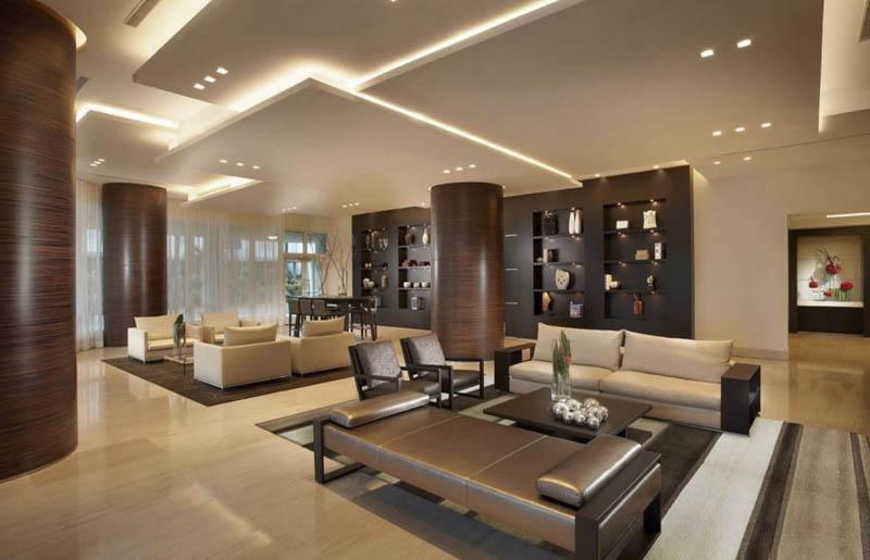 Многоуровневый потолок в классическом стиле