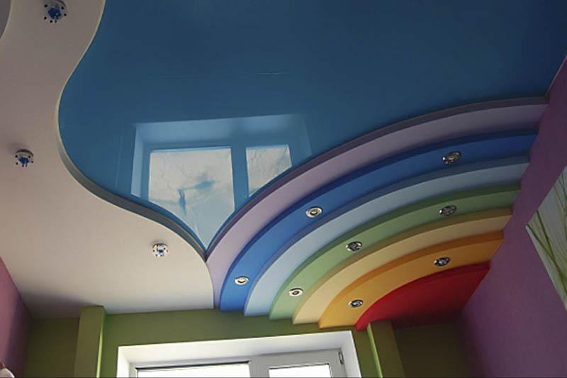 Как сделать радугу в детской