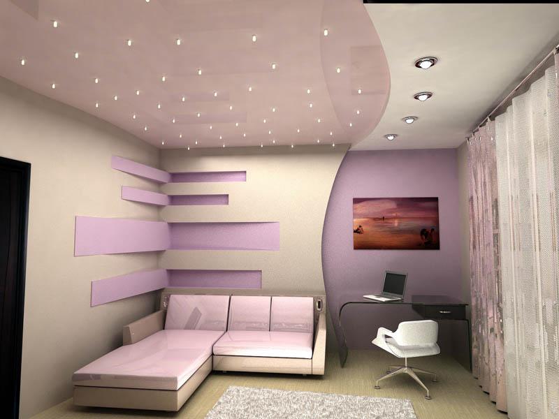 Зонирование рабочей зоны от спальни
