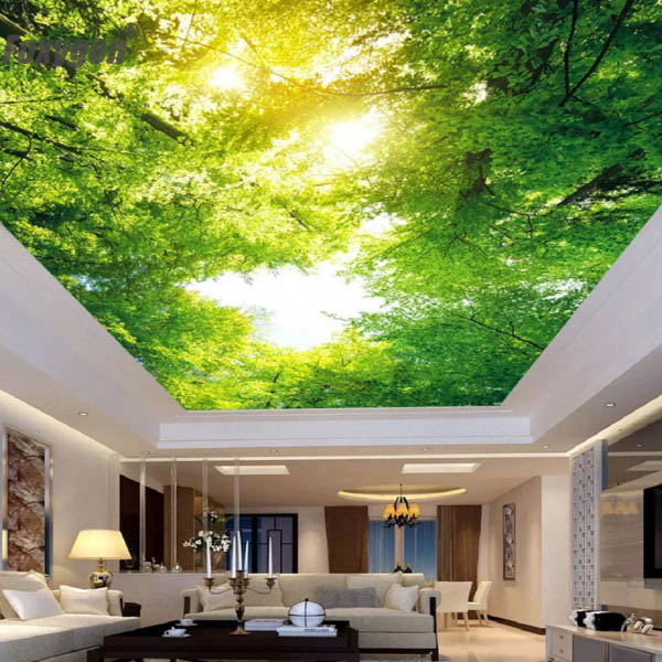 """Светопрозрачный потолок с эффектом """"в лесу"""""""