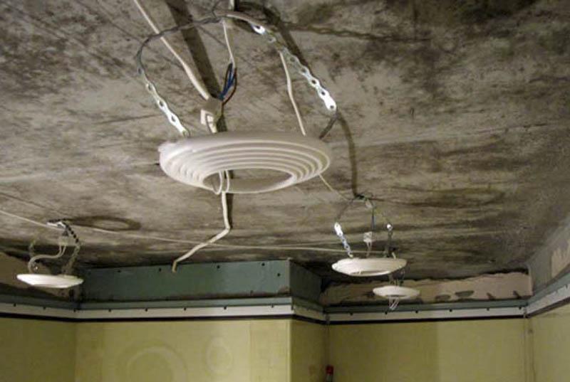 Разводка электрики под точечные светильники