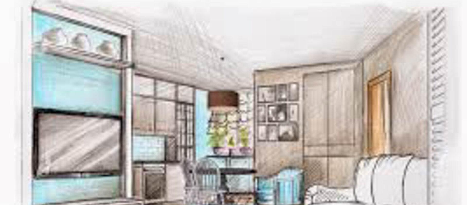 проект шкафа и натяжного потолка
