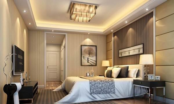 Накладная люстра в спальне