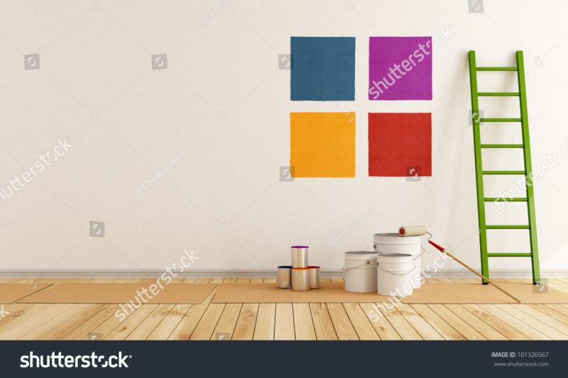 краска разного цвета