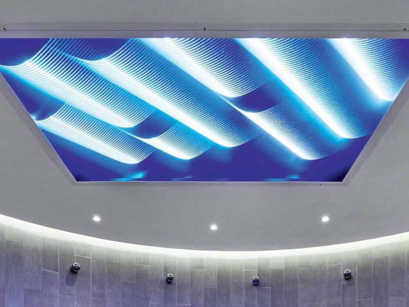 Подсветка натяжных потолков с вариациях парящий и световые картины