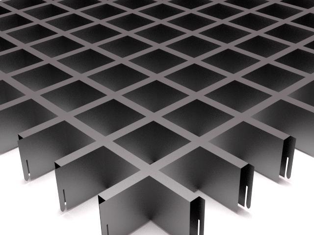 Потолки грильято - система подвестных потолков