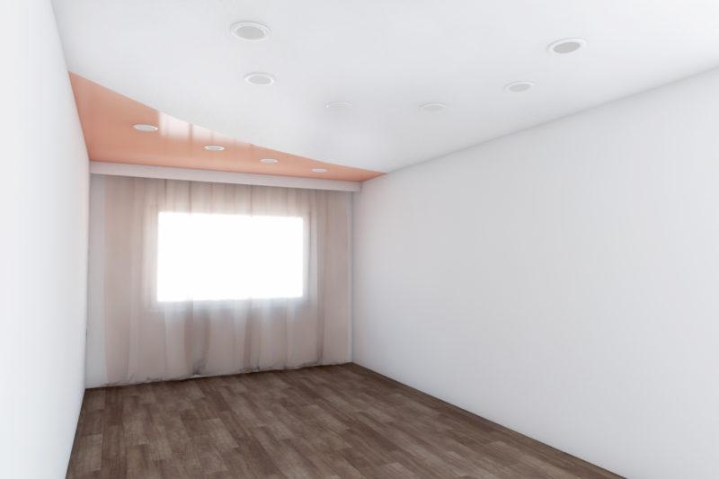 Сатиновый комбинированный потолок