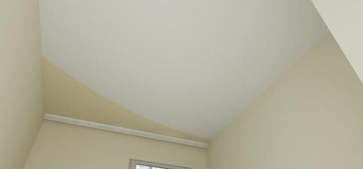 Натяжной потолок в два цвета