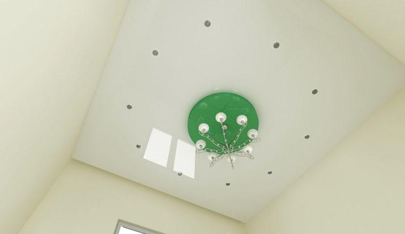 Светильники на потолке в форме круга