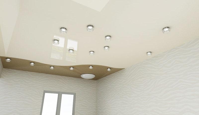 Натяжные потолки с дизайном-125