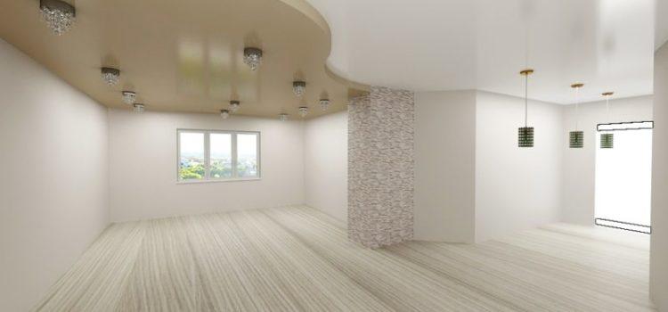 Натяжные потолки в большой комнате
