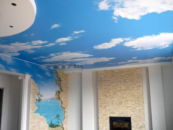 Небо и облака с переходом на фотообои
