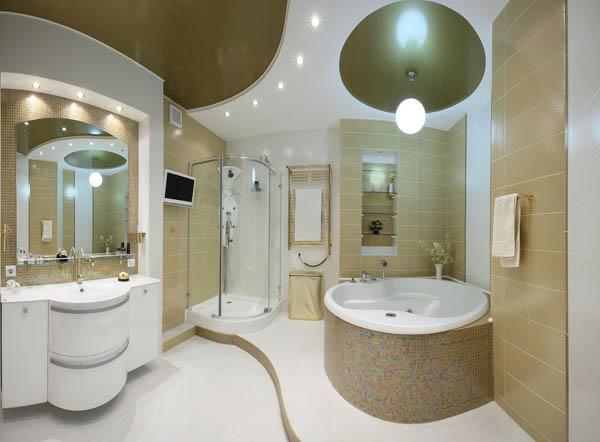 заказать натяжной потолок в ванную