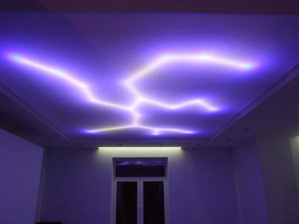 скрытая подсветка натяжного потолка