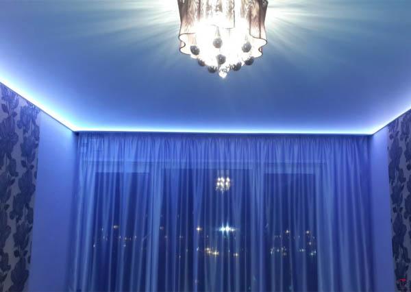 заказать натяжной потолок с подсветкой