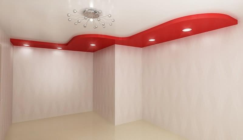 Проект двухуровневого потолка для студии