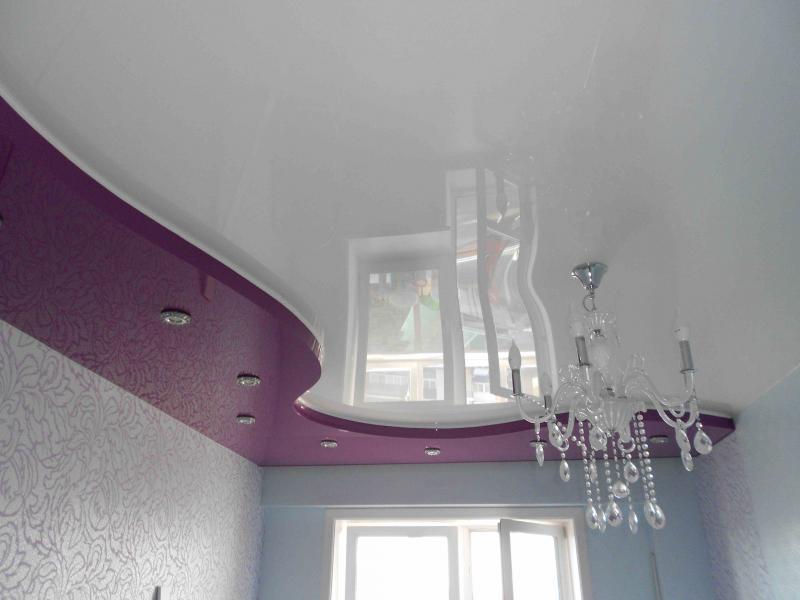 Двух- и многоуровневые натяжные потолки