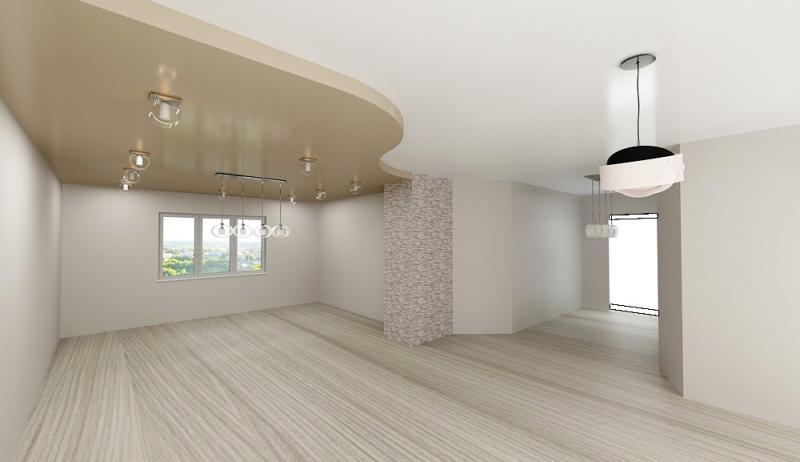 Проект потолка в два уровня студия Небо-ЛЮКС.РФ