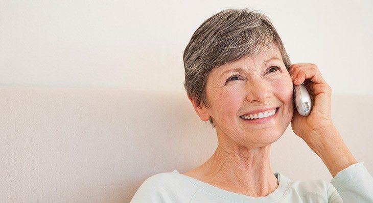 Радостная пенсионерка звонит